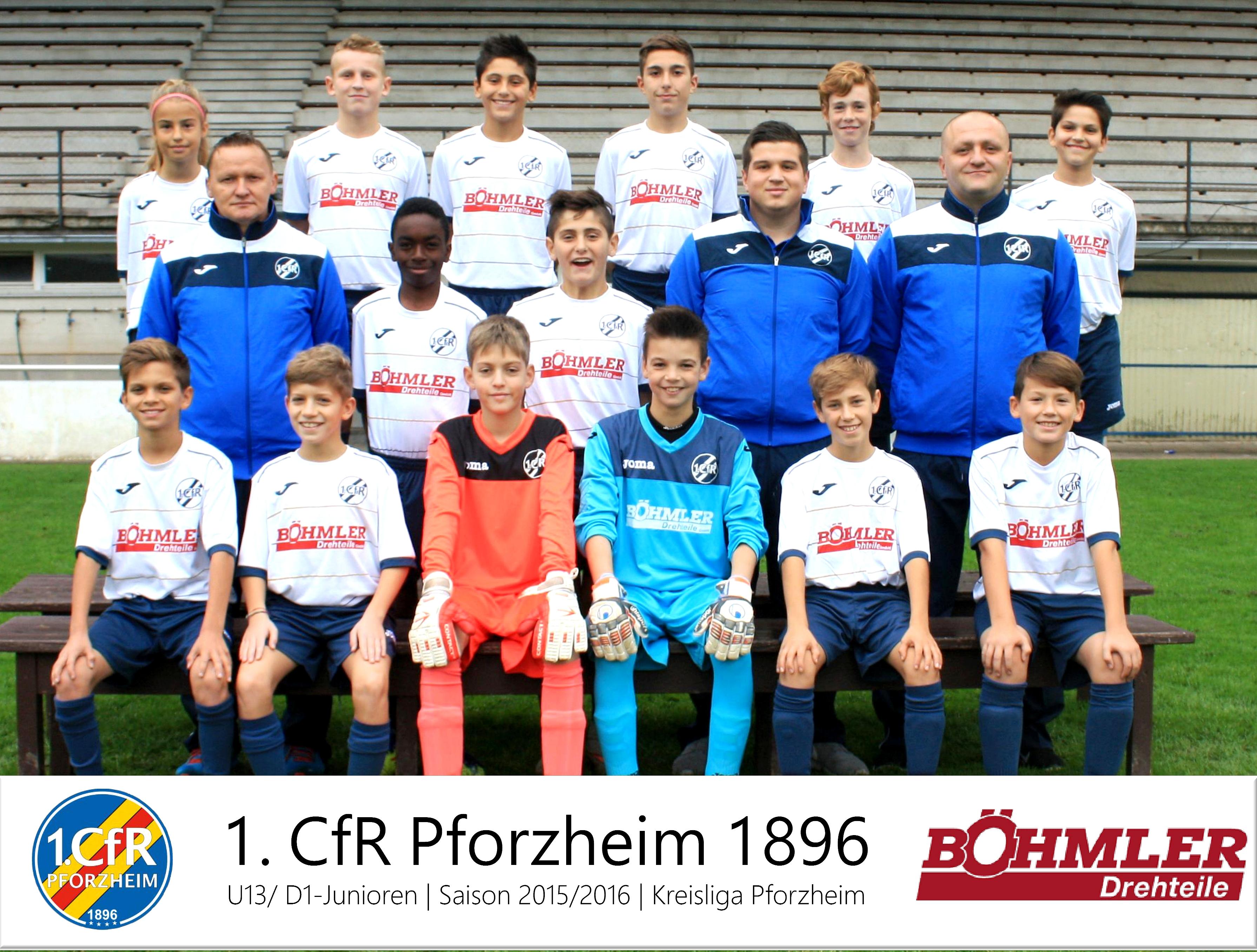 Teamfoto CfR-Pforzheim D-Junioren-2015